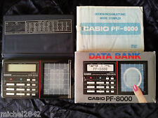 CASIO PF 8000 DATA BANK calculatrice digitale avec notice 1984 RARE Informatique