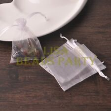 100pcs 16x11cm Organza Wedding Party Decoration Gift Candy Sheer Bags White
