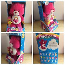 CARE BEARS COLLECTION TALKING SECRET BEAR  WITH VHS CARTOON VIDEO #23 IN BOX