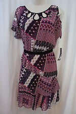 "Nine West Dress Sz 8 Camella Pink Combo ""Street Smart"" Business Dinner dress"