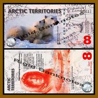 Arctic Territories Polymer UNC /> Polar Bears 2011 $8