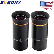 "Svbony 1.25""6mm/9mm Ultra Wide Telescope Eyepieces Set Fully Multi-Coated Len Us"