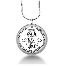 Our family is a circle of strength necklace, together forever, Faith jewelry