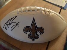 Drew Brees Autograph Signed New Orleans Saints Logo Football Purdue JSA COA