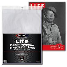 10 loose BCW Brand Life Magazine Storage Poly Bags Sleeves