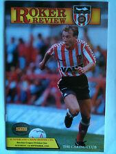Como Nuevo 1990/91 Sunderland v Manchester United 1st división