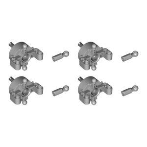 Lego 4x Genuine Technic Wheel Hub CV Cardan Ball Joint Steering 46490 52731 NEW