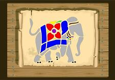 Indian Elephant With Throw Over Stencil 350 micron Mylar not thin stuff#Ele0a