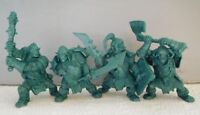 Set 4 Mountain Orcs Plastic Fantasy Toy Soldier Orc 54mm 1/32 scale Tehnolog NEW