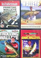 Walleye Fishing Strategies Live Bait Seasonal Moves Trolling 4 DVD Lot NEW