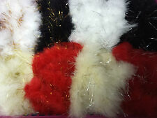Marabou  Feather with Tinsel  Many Colours Listed Christmas