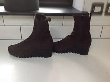 Arche brown wedge boots worn once size 5