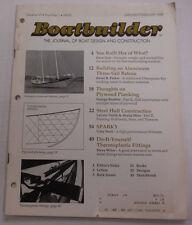 Boatbuilder Magazine Building Aluminum Three Sail Bateau February 1988 011615R