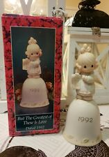 """***VINTAGE*** 1992 Precious Moments Bell, """"But The Greatest Of These Is Love"""", #"""