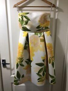 Lovely ASOS Strapless Floral Dress - Size Uk 8