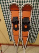 "vintage SNOW SHOES hand made PVC tubing 49"" x 10"""