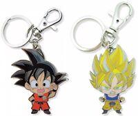 Dragon Ball Dbz Keychain Key Chain Set Chibi Goku Ssj Super Saiyan Licensed New