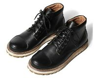Black Brown US Size 5-11 New Leather Mens Casual Dress Lace Up Ankle Boots Shoes