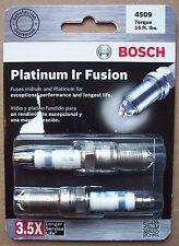 BOSCH 4509 Platinum Ir Fusion Iridium Spark Plug - Two per Package - Save on 2+