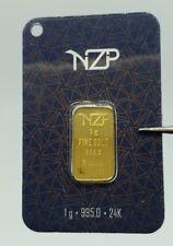 1 gram fine gold bullion bar 24K 1 gr 995 lingot d'or goldbarren lingotes GIFT