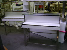 White Amp Chrome Glass Tier Retail Store Fixture Merchandise Display Table
