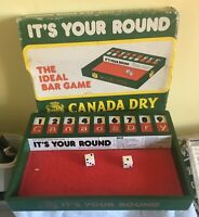 c 1970s promotion Canada Dry tonic its your round dice game