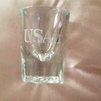 Vintage US Air US Airways Airline Shot Glass Flight Memorabilia