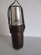 VINTAGE Thermoskanne-Isolierkanne-Trinkflasche-ETIENNE AIGNER-Leder-Oldtimer