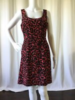Ann Taylor Petite Womens Dress Silk Stretch Sleeveless Sheath Red Size 6P