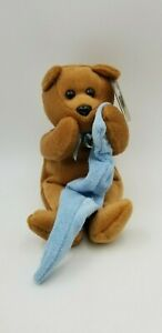 "CELEBRITY BEARS 2000 Star #72 PEANUTS LINUS ""Brother Bear!"" Toy 9"" Plush"