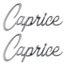 1965-1967 Caprice Front Fender Emblem Script CAPRICE Pair