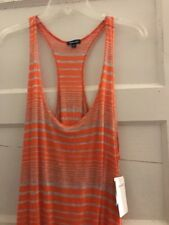 48bc19381a Womens Splendid Orange Striped Beach Cover up Size Medium Bs1