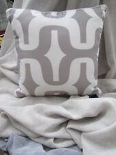 Modern Zaab Homewares Paxton Silver Geometric Cushion Cover 45cm x 45 cm  SALE