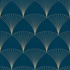 12000 - Design Fan Motifs Blue Galerie Wallpaper