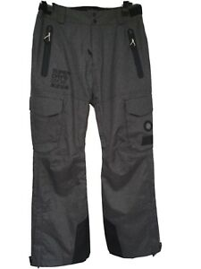 Mens Superdry Ultimate Snow Rescue Pants/Salopettes, Large