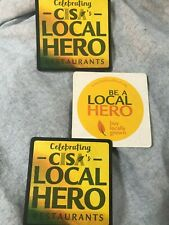 3 CISA'S COMMUNITY INVOLVED IN SUSTAINING AGRICULTURE BEER COASTER  MINT COND.