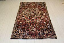 Ancien en laine fait main persan oriental floral Runner Zone Tapis Moquette 222 x 115 cm