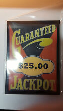 REPLACMENT MILLS / BUCKLEY GUARANTEED $25.00 JACKPOT GLASS SLOT MACHINE