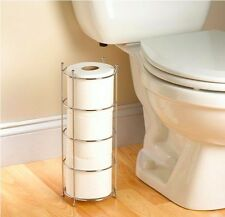 Free Standing Toilet Paper Holder Stand Bathroom Storage Cabinets Organizer Rack