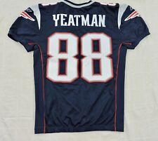 NEW ENGLAND PATRIOTS WILL YEATMAN #88 Game Used NFL Sewn Reebok Home Jersey