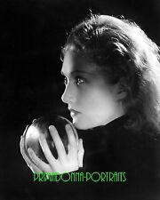 EDWINA BOOTH 8x10 Lab Photo 1930s Amazing Shadow Crystal Ball Orb Portrait