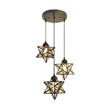 Victorian 3 Heads Star Pendant Lighting Kitchen Island Led Ceiling Chandeliers