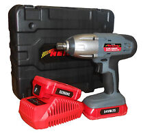 "24V LITHIUM 1/2"" CORDLESS IMPACT WRENCH RATCHET + 2 BATTERIES IN CASE HEAVY DUTY"
