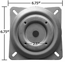 "Replacement Bar Stool Swivel 6.75"" Square w/ Round Bottom Plate - Pitched  S5446"