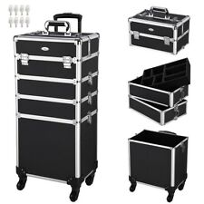 4 in1 Rolling Makeup Train Case Organizer Cosmetic Beauty Cosmetic Salon Trolley