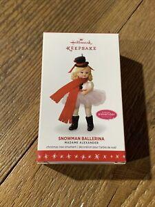 2016 Hallmark Keepsake Ornament Snowman Ballerina Madame Alexander #21