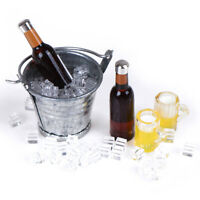 Beer Bottle Bucket Ice Cube Cups Play Dollouse Food Furniture Toy 1/12 ScaleS td