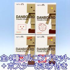 Yotsuba&! Danbo Figure Stamp Danboard Prize Taito (All 4 Complete Set + Poster)