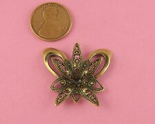 European Brass Ox Filigree Small Butterfly - 1 Pc(s)