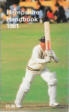 Cricket HAMPSHIRE HANDBOOK 1981 Hampshire County Cricket Club Paperback